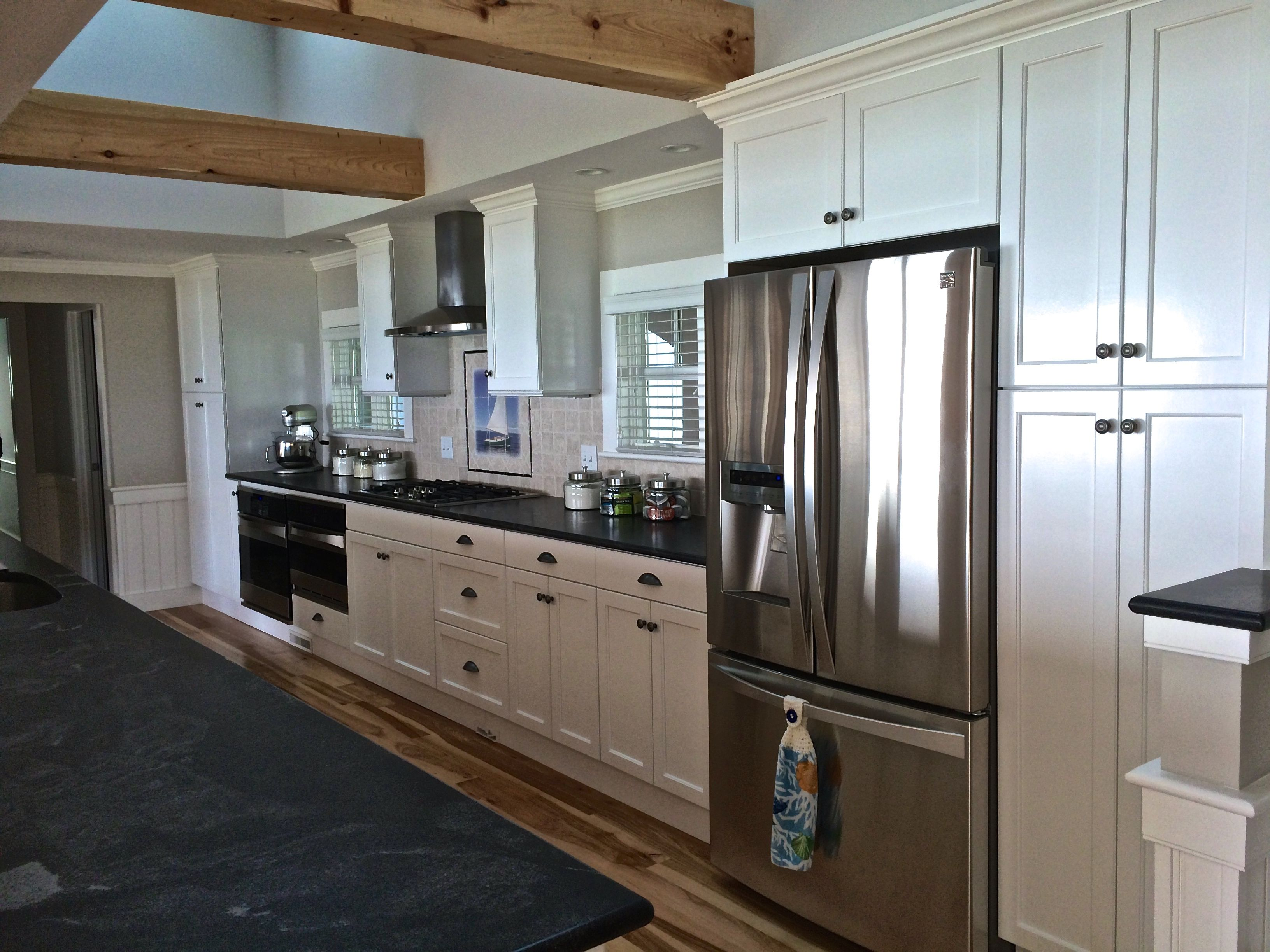 frameless construction with full overlay cabinet doors painted super rh pinterest com Cape Cod Kitchen Hardwood Floors Cape Cod Kitchen Countertops