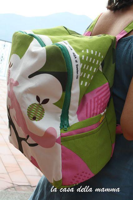 Zainetto con tessuto Ikea | La Casa della Mamma