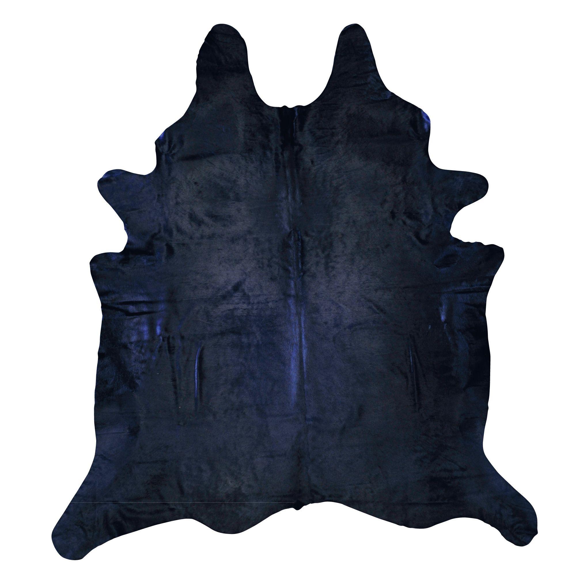 Navy Blue Cowhide Rug For Oscar S Bedroom