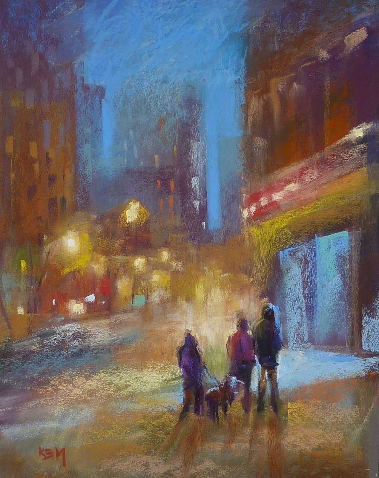 Chicago Lights Karen Margulis Art Painting Gallery Painting