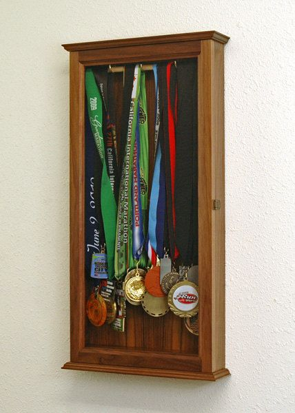 Beautiful Medal Display Case Wall Cabinet Medal Display Case, Race Medal Displays,  Trophy Display,