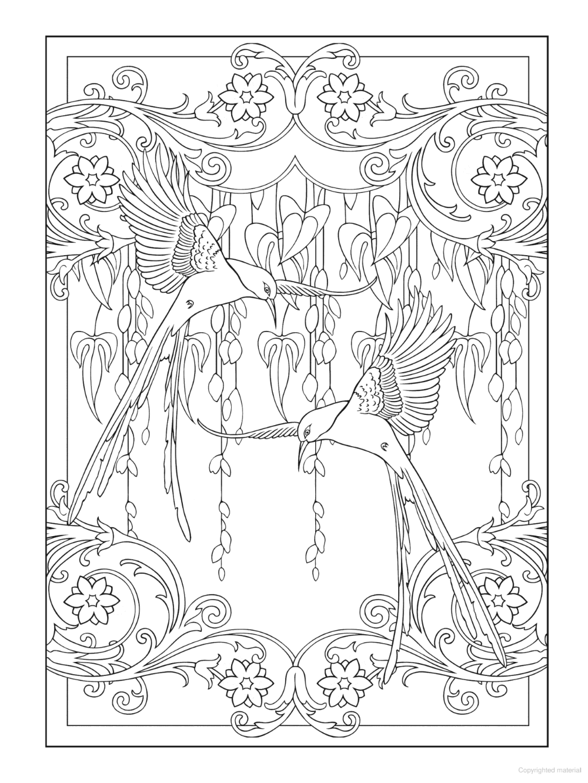 Creative Haven Art Nouveau Animal Designs Coloring Book Designs Coloring Books Coloring Books Coloring Book Art