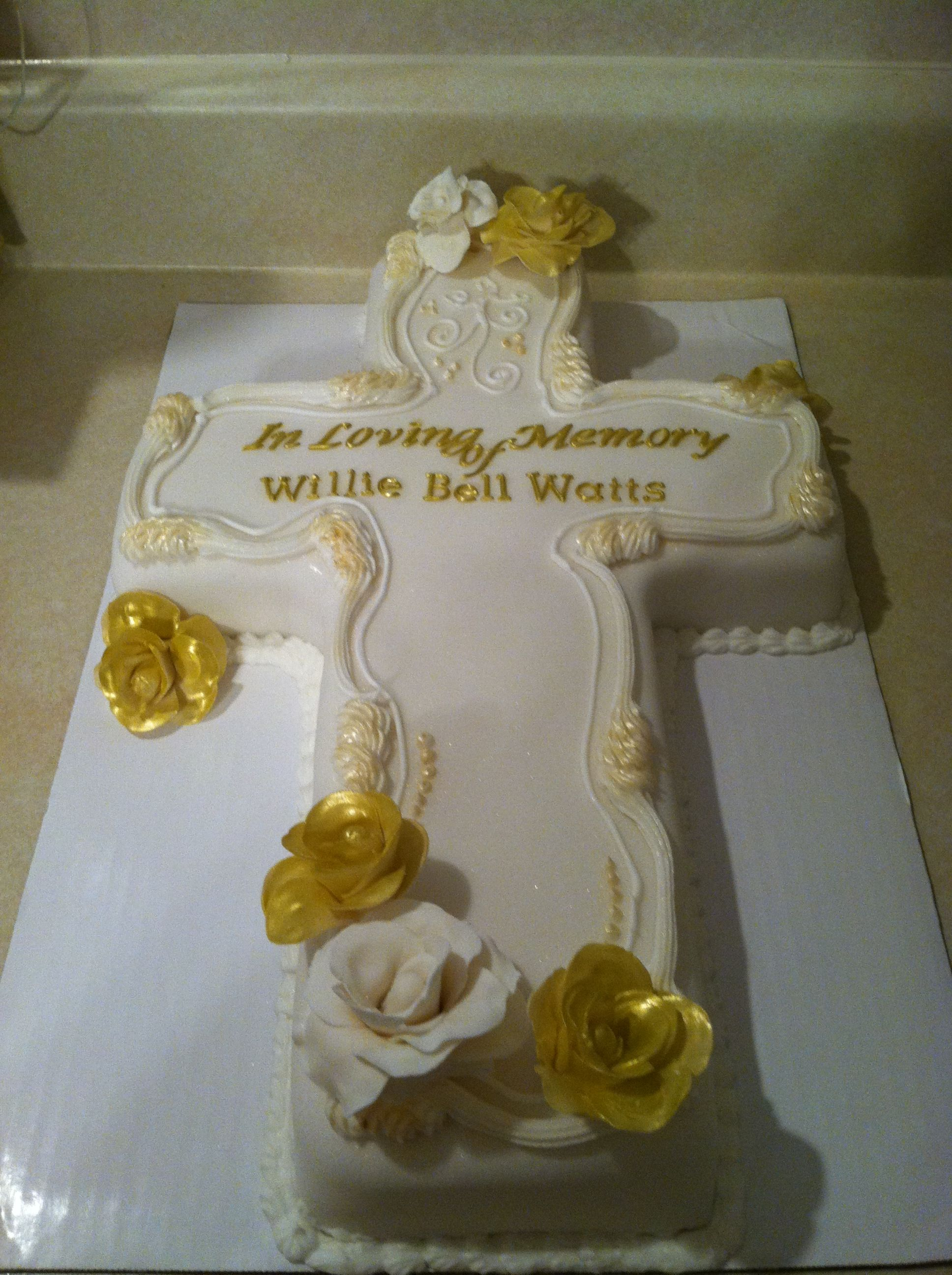 Memorial Cross Cake Baptism Cake Cross Cakes Confirmation Cakes