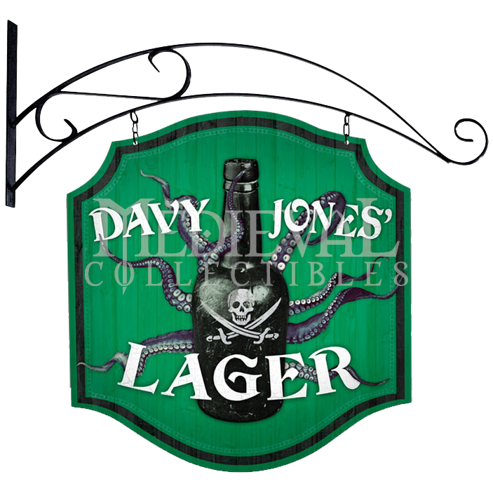 Double Sided Davy Jones Lager Sign - PT-PS155 by Medieval Collectibles