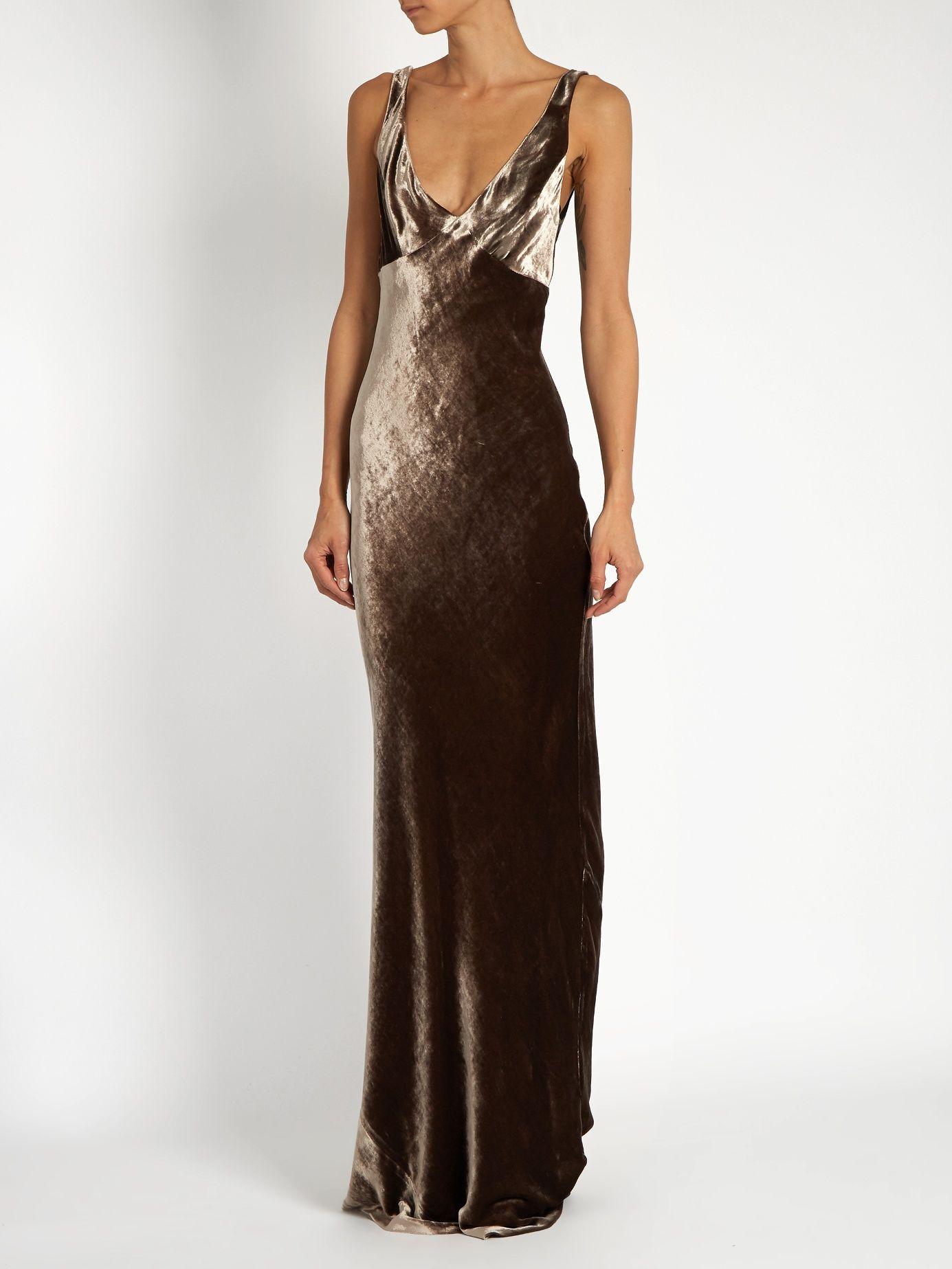Biascut velvet dress raey matchesfashioncom us dress