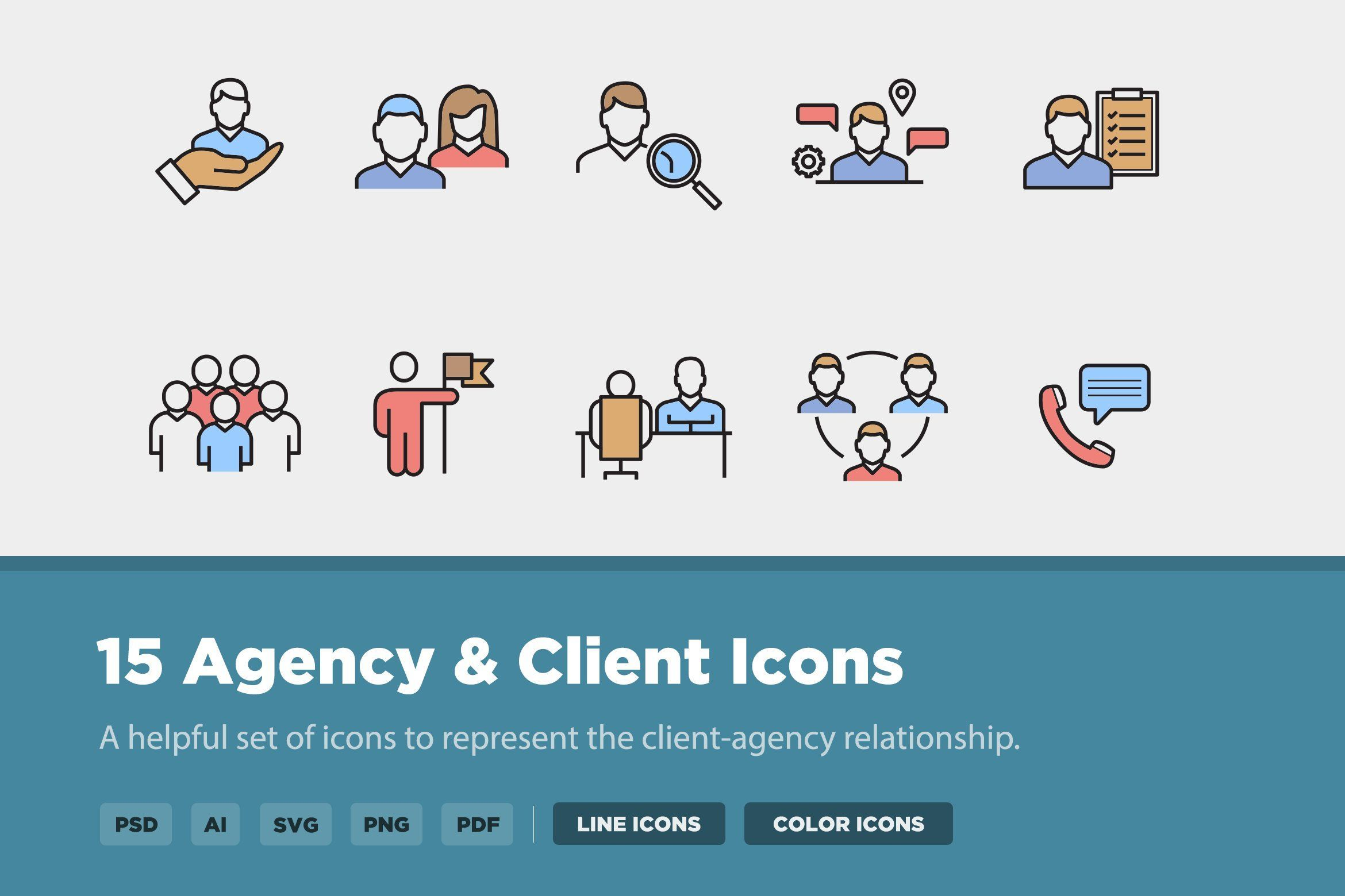 Agency & Client Icon Pack. A helpful set of icons to