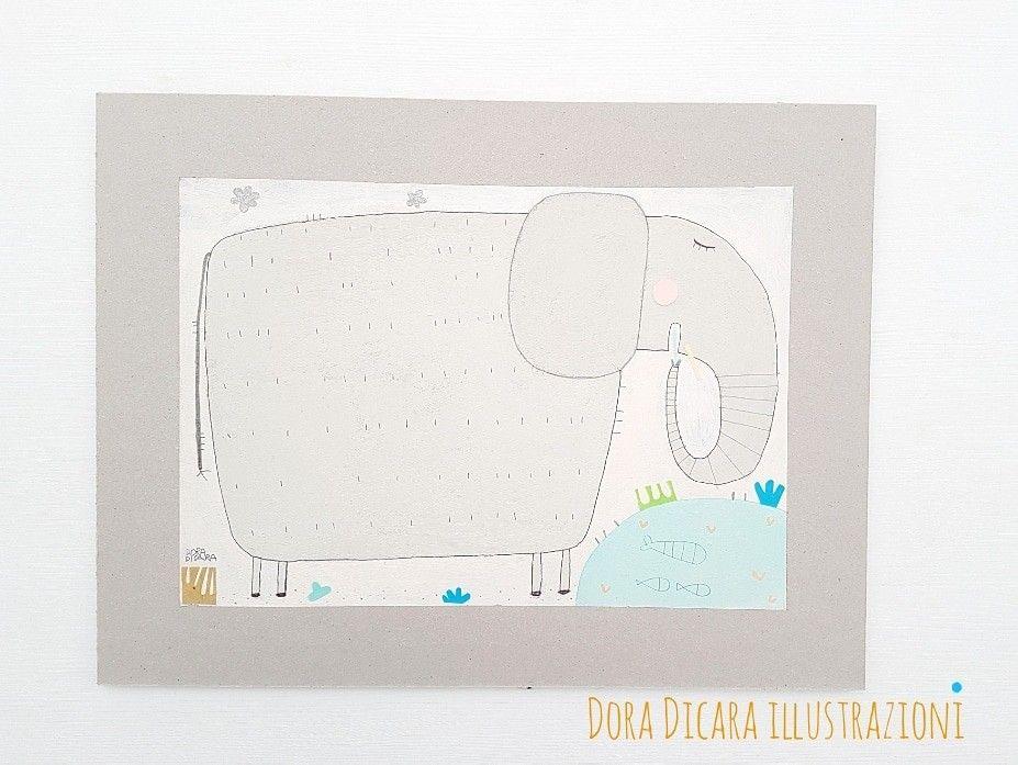 Un elefante Dora Dicara Illustrazioni  Ottobre 2017