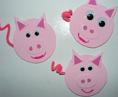 Pig Craft Farm Animal Crafts Animal Crafts For Kids