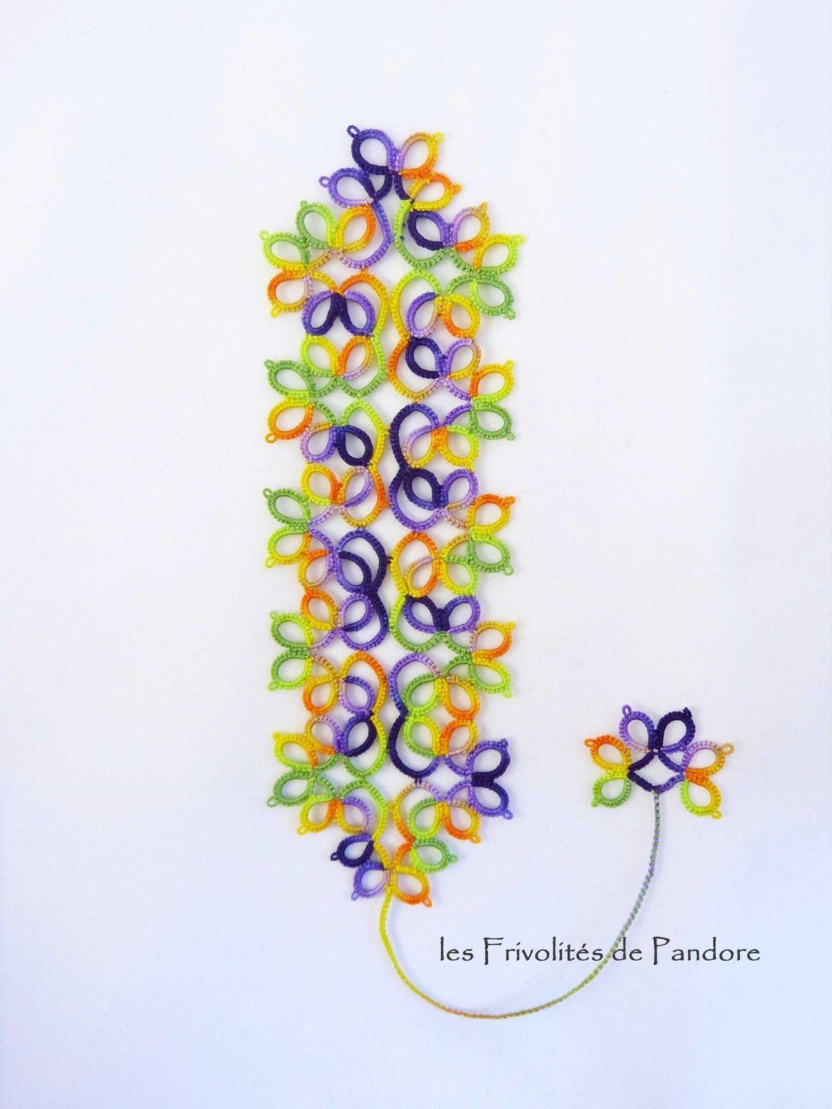 Voici mon 1 2 ° ouvrage pour le 25 Motif Challenge  !  Il s'agit d'un marque-page réalisé avec un fil teint à la main par Marilee Rockley,...