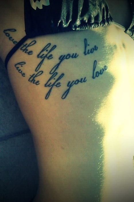 My Ribs Love The Life You Live Live The Life You Love Bob