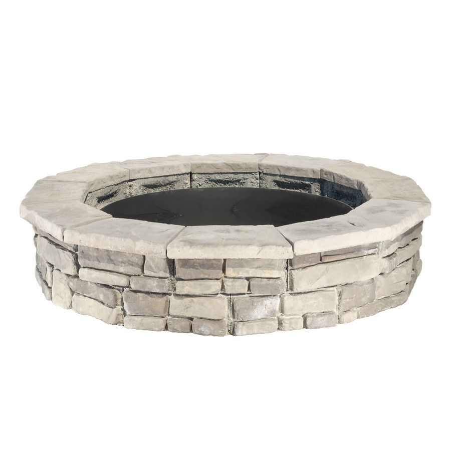 Panama 44 In W X 44 In L Different Subtle Shades Of Gray Concrete Fire Pit Kit Lowes Com Fire Pit Kit Round Fire Pit Wood Burning Fire Pit