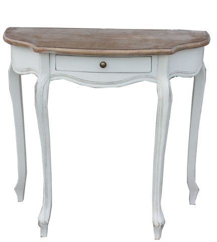 Provence Half Moon Hall Table For Guest Book