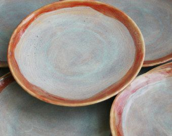 Pottery · SALE Ceramic Dinnerware Rustic Multicolor Plates Handmade ... & Farmhouse Pottery Dinnerware - BUILD YOUR OWN Farm to Table set ...