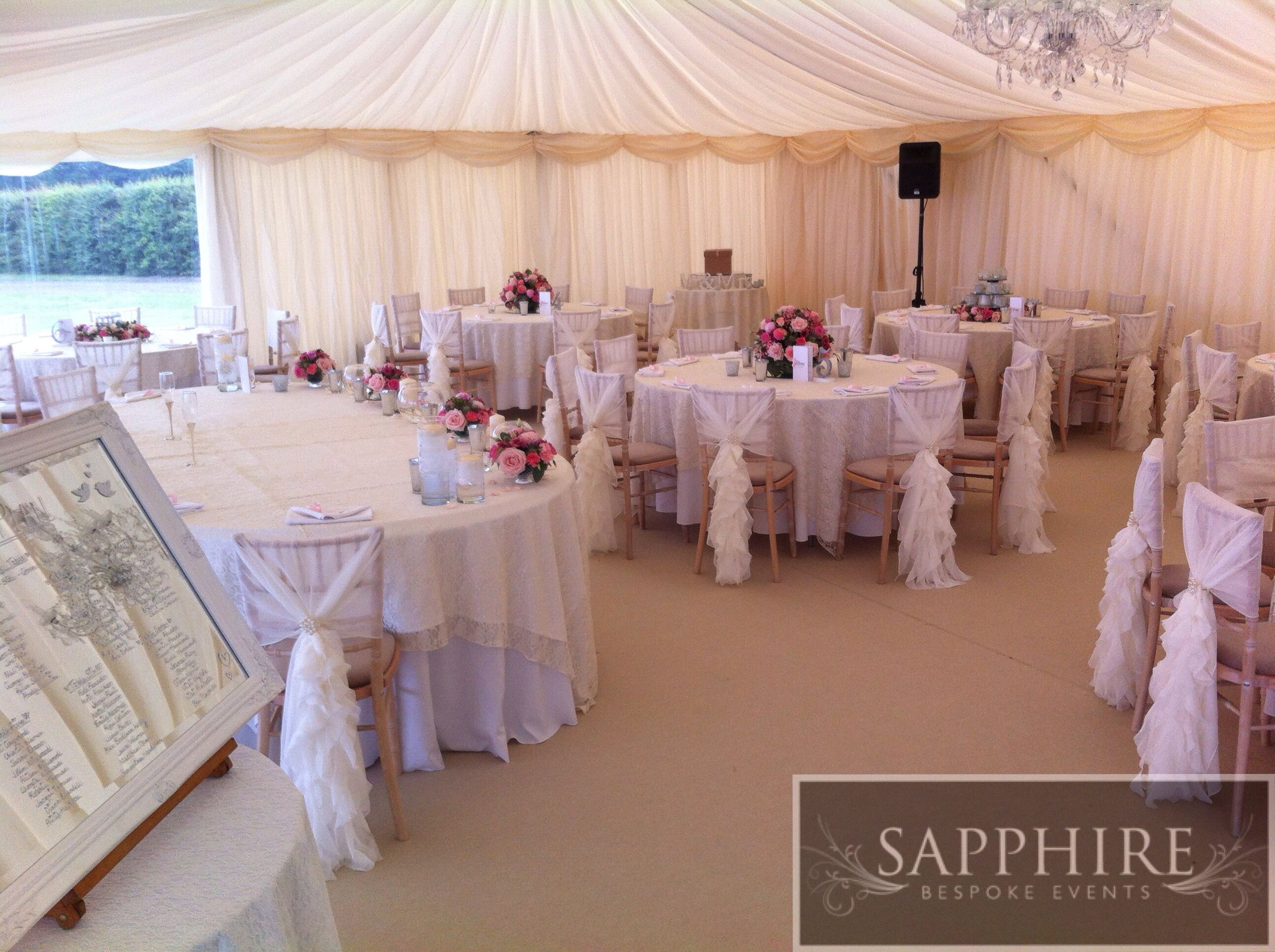 Church Farm Wirral Chiavari Chairs Marquee Venue Dressing Ruffle
