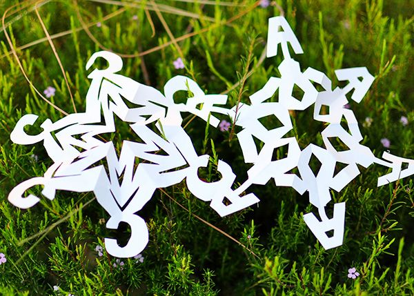 MONOgrammed Snowflakes....yes