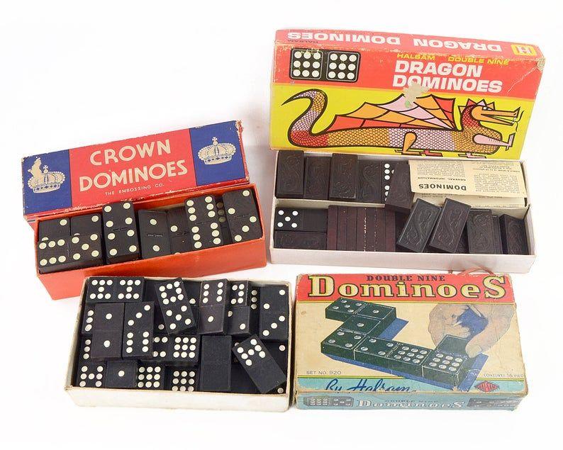 Vintage Dominoes Toys Games Crown Dominoes Dragon Dominoes