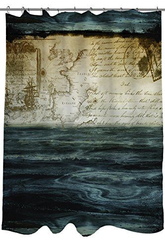 Thumbprintz Shower Curtain Timeless Voyage Amazon