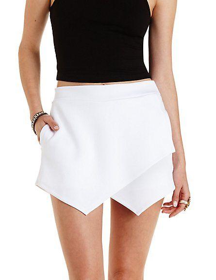 ee847ca1c6f5 Envelope Wrap Mini Skort  Charlotte Russe  skort  miniskirt ...