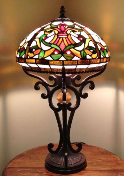 Galicia Lighting 12inch Tiffany Table Lamp Height 19 Inch 48cm Diameter 12 Inch 30cm Max Wattage 60w Material Of Shad Tiffany Lighting Tiffany Table Lamps Lamp