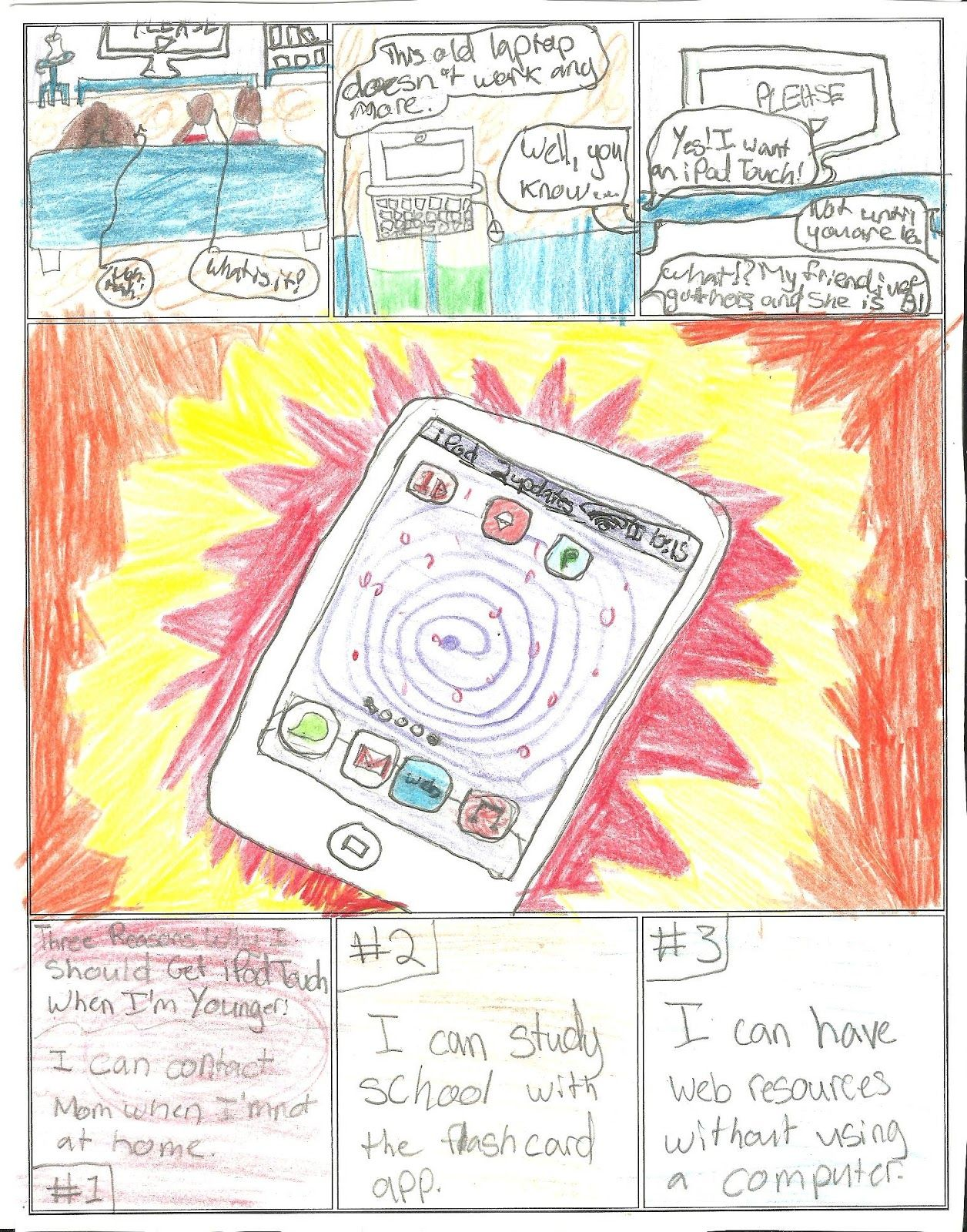 persuasive writing ala comic strip