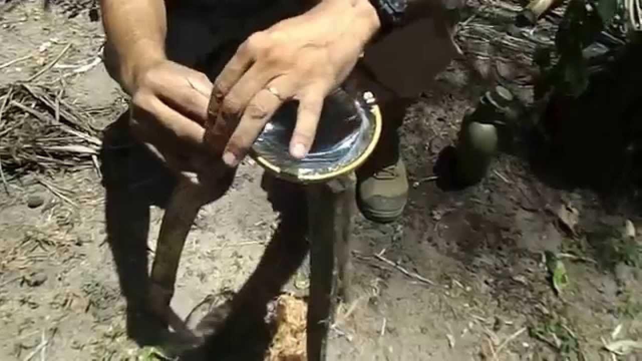 lente improvisada fogo com agua