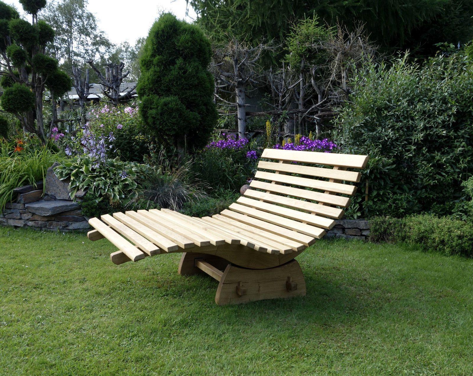Relaxliege Verstellbar Sauna Wellness Doppelliege Holzliege Gartenliege In Garten Amp Terrasse Diy Outdoor Furniture Outdoor Furniture Outdoor Chairs