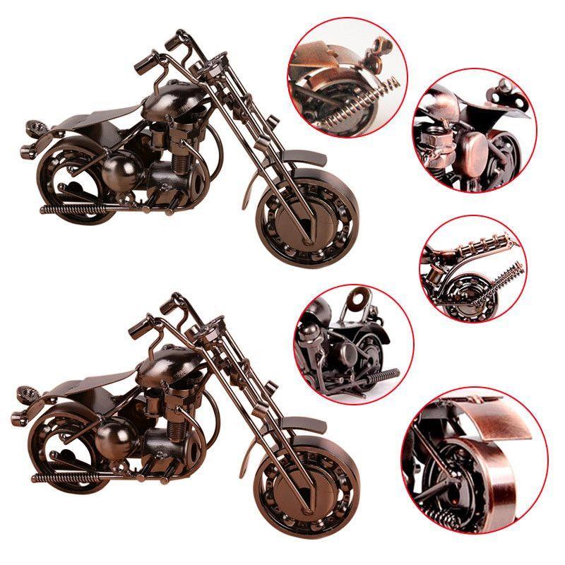 Home Decor Handmade Motorcycle Model Toys Metal Motorbike Model Toy For Men Gift