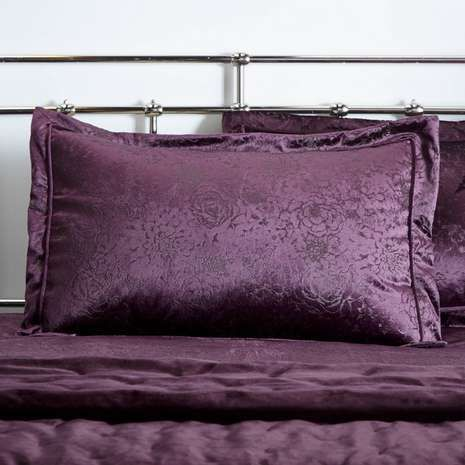 purple Oxford pillow cases Separate