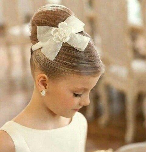 First Communion Hairstyles Silk Back Communion Hairstyle♡  Kids  Pinterest  Communion