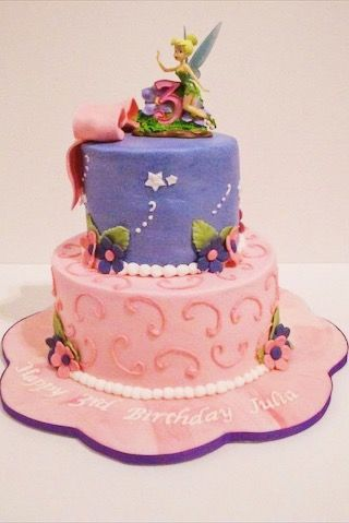 Custom Tinkerbell Birthday Cake By A Little Slice Of Heaven Bakery In Atlanta GA