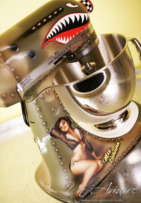 superior Designer Kitchen Aid Mixers #6: Un Amore custom painted KitchenAid mixers. Totally badass.
