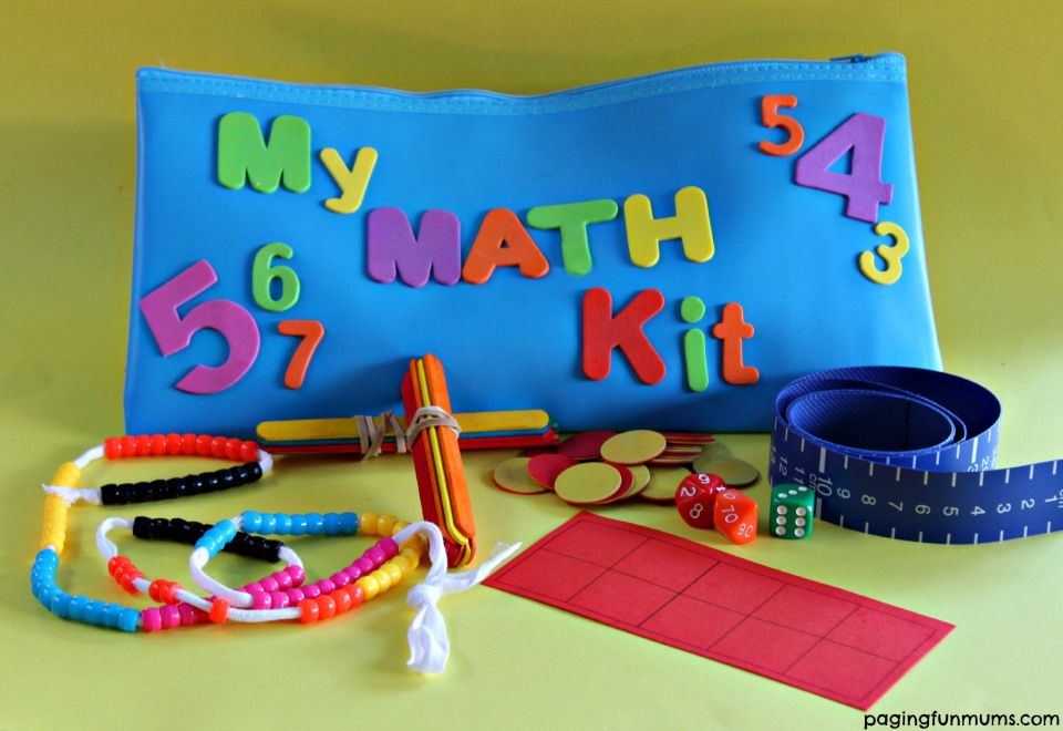 DIY FUN Home Math Kit for beginner learners | Math, Activities and ...