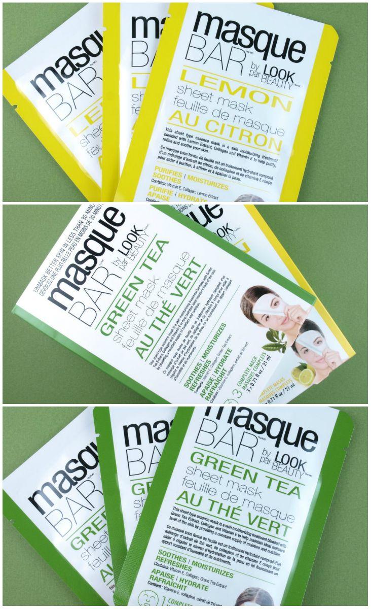 Masque Bar by Look Beauty Green Tea & Lemon Sheet Masks: Review