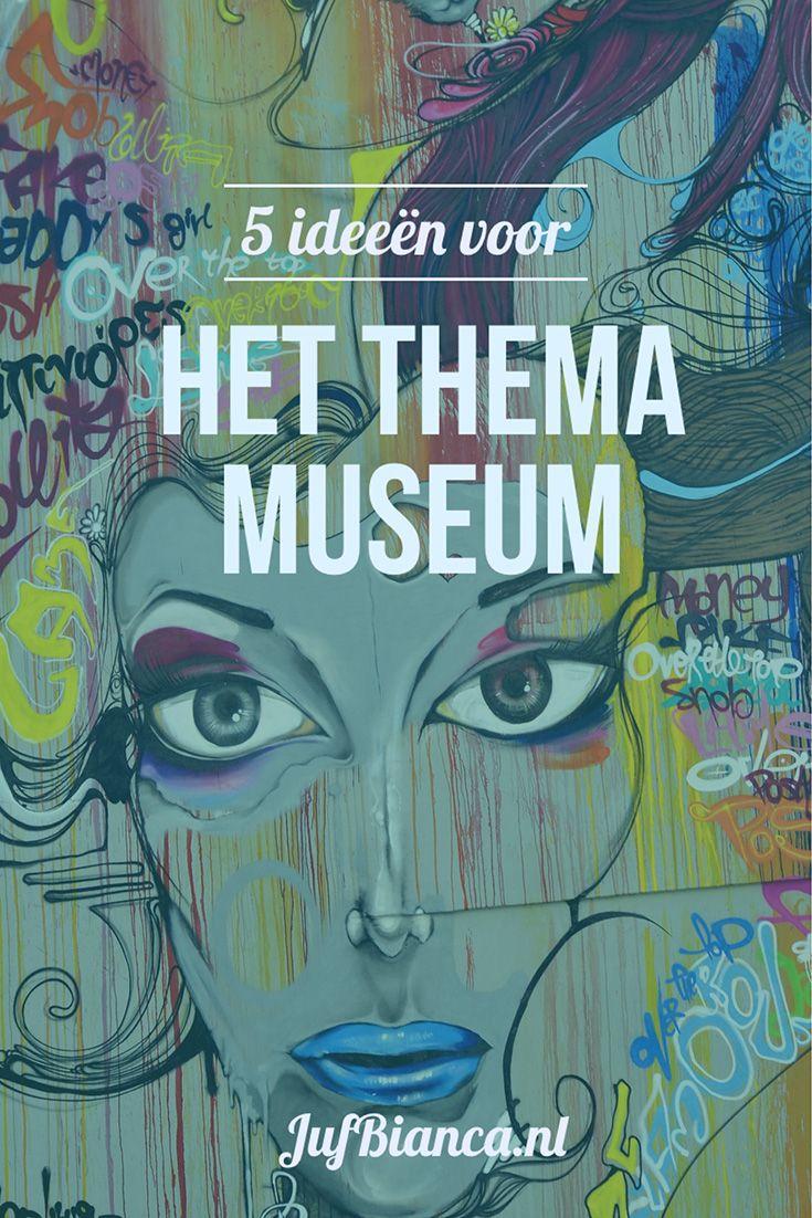 Thema het museum? Het museum is toch iets voor grote mensen? Maar wat als ik je nou vertel dat je een museum kunt maken in je eigen klas? Wat er dan ook in het museum komt te staan of hangen de kinderen zullen het waarderen omdat het van hen is. Ze leren goed kijken naar details en gebruiken rijke taal om te beschrijven wat we zien. Nog niet overtuigd? Ik geef je 5 leuke ideeën voor het thema het museum in je klas! #JufBianca