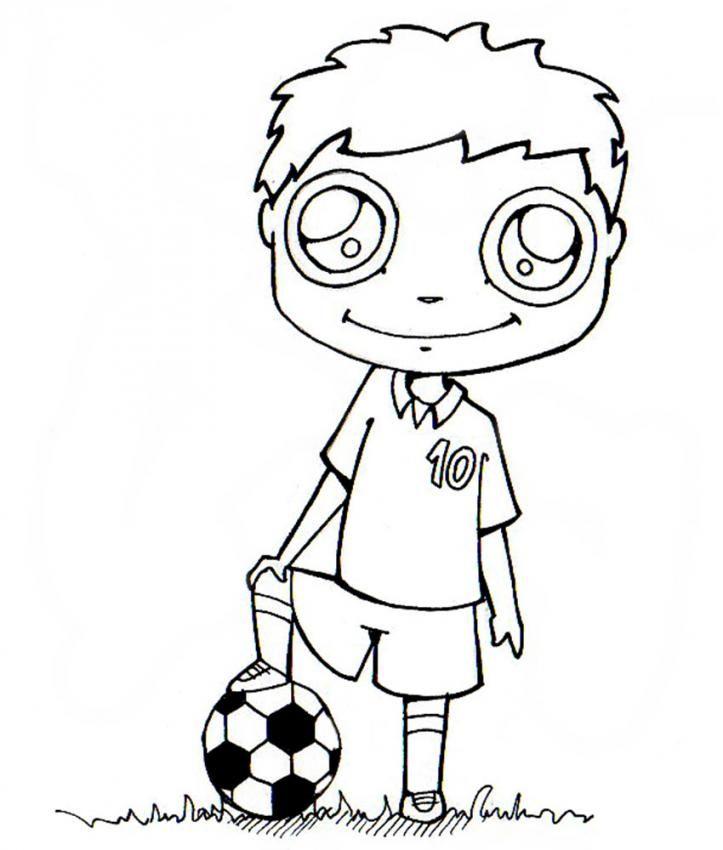 Coloriage d 39 un joueur de foot un dessin colorier de footballeur pour tous les fans de sport - Footballeur a colorier ...