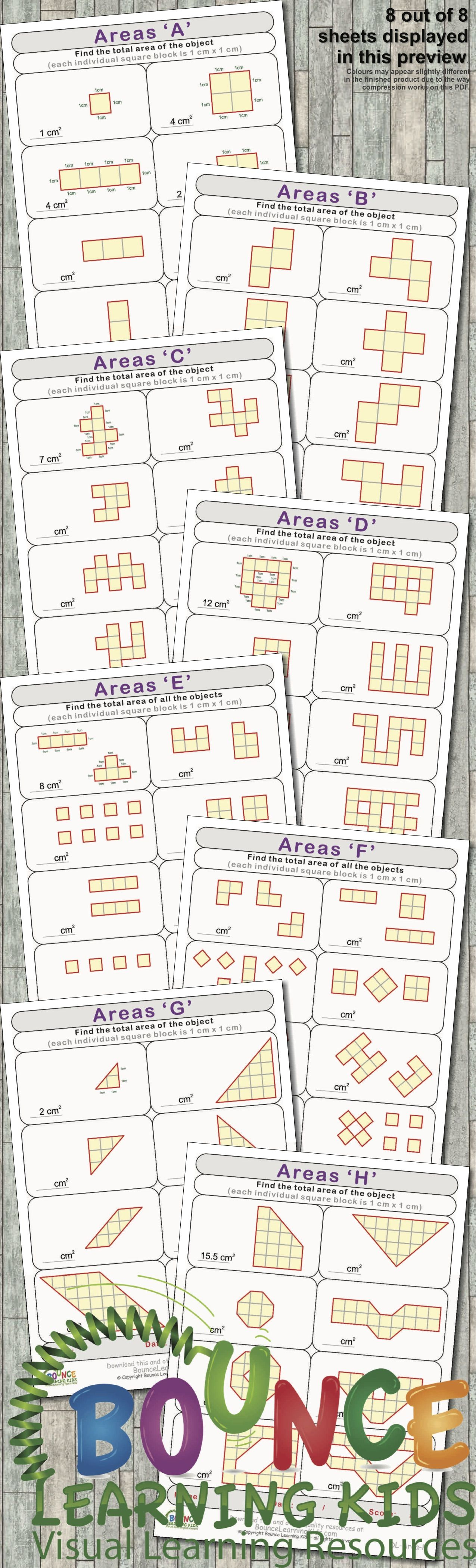 Area 1 8 Distance Learning Numeracy Sheets