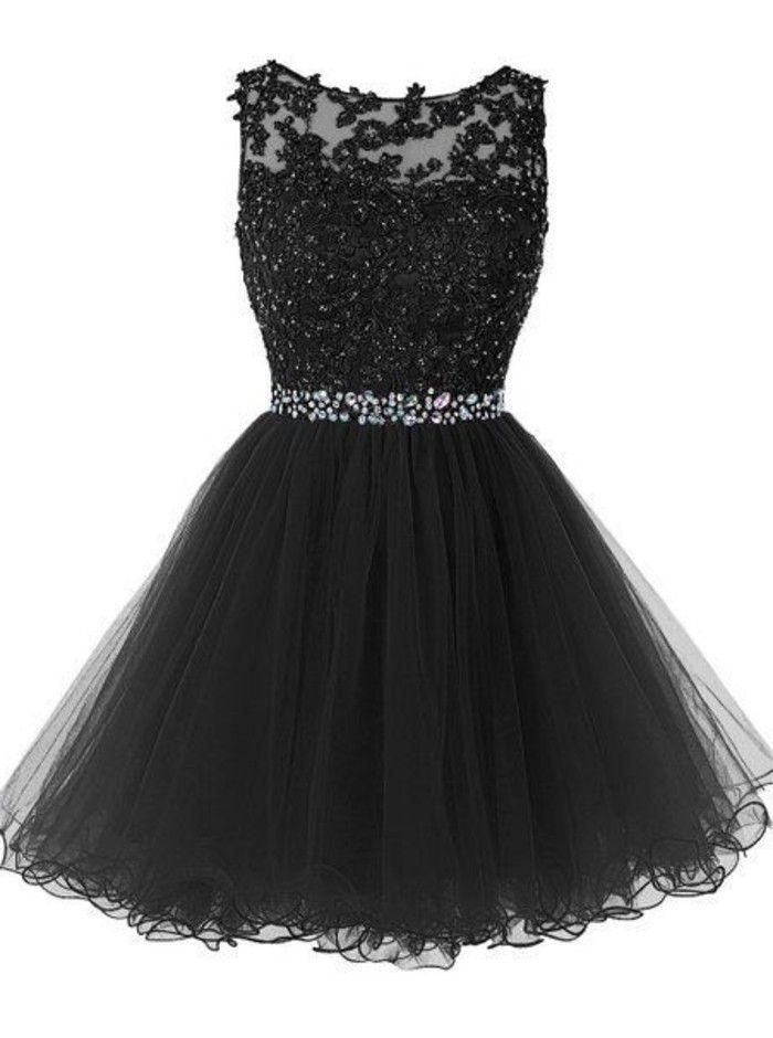 ba060ffbae vestidos-de-fiesta-cortos-piedras-preciosas-tul-negro-bordada