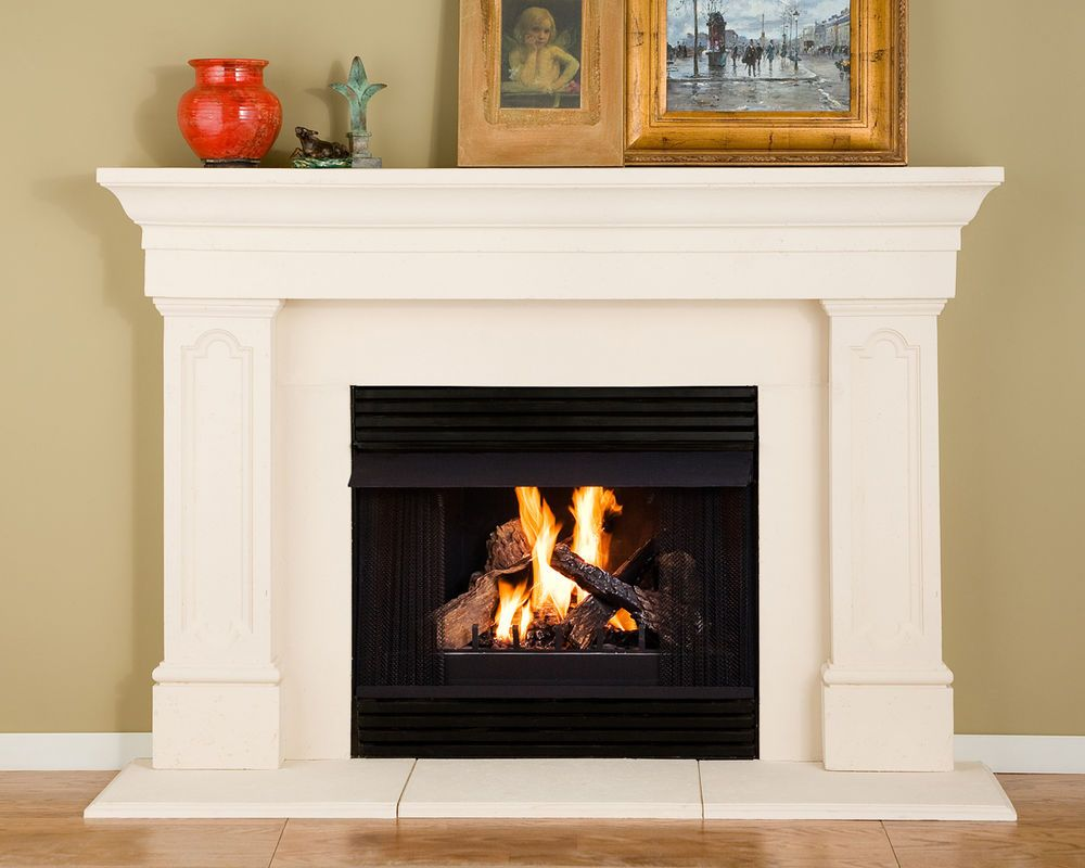 Harper Thin Cast Stone Fireplace Mantel Kit | Projects to ...