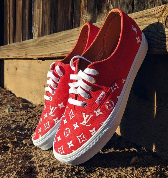 Custom Vans Supreme Louis Vuitton Champion LV Old Skool Vans  968bc9354