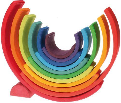 Grimm's 12-teiliger Regenbogen »  Sortier-, Stapel- & Steckspielzeug - Jetzt online kaufen | windeln.de