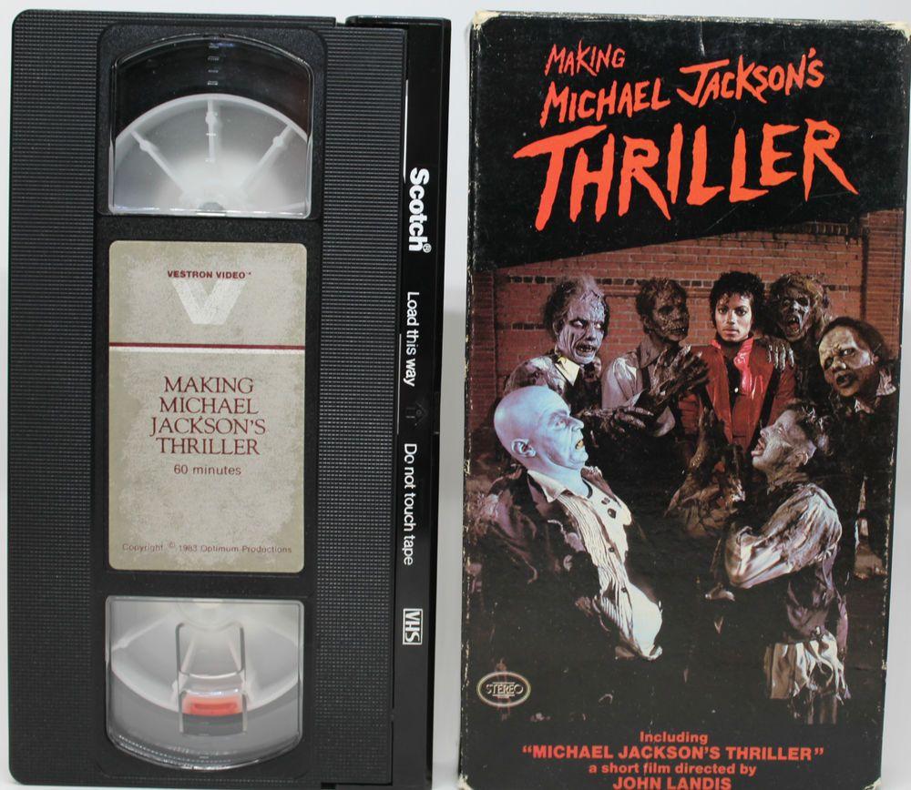 Making Michael Jacksons Thriller Video VHS Tape John Landis   Michael  jackson thriller, Thriller video, John landis