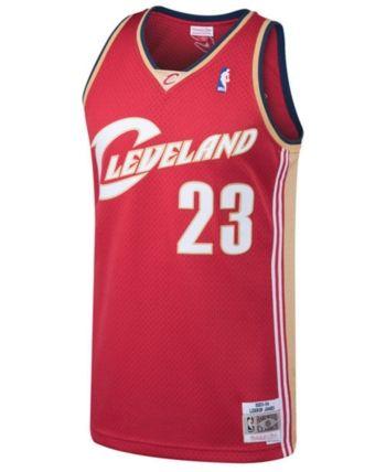 Mitchell   Ness Men s LeBron James Cleveland Cavaliers Hardwood Classic Swingman  Jersey - Red XL 6bec78795