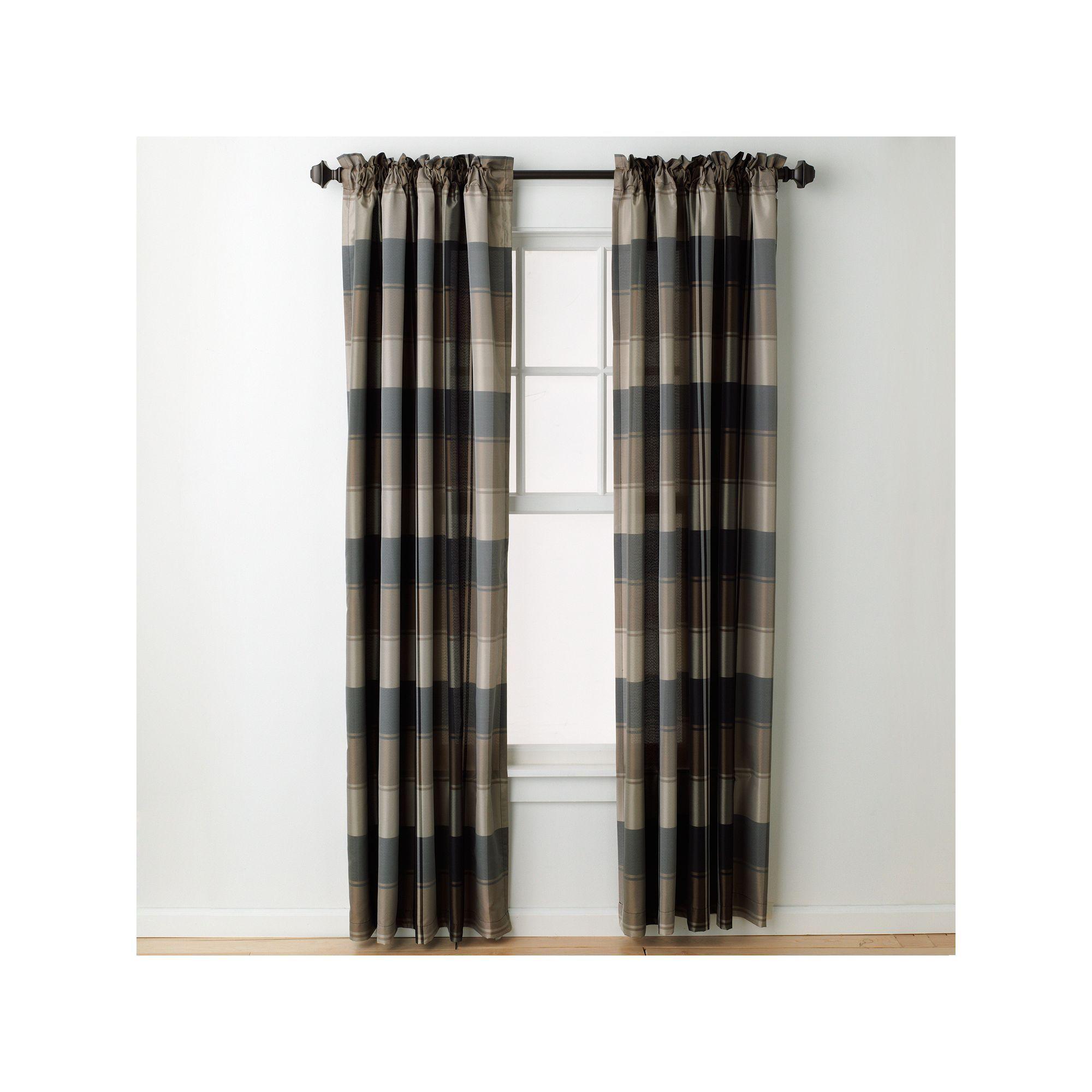 United Curtain Co 1 Panel Plaid Window Curtain Plaid Curtains