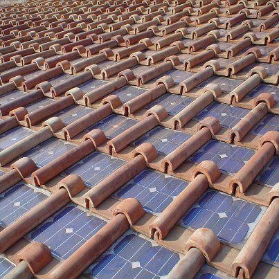 Terra Cotta Roof With Integrated Solar Panels Solar Tiles Solar Roof Best Solar Panels