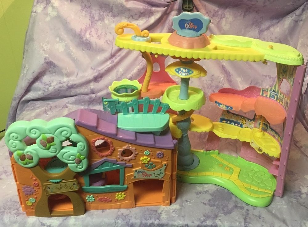 Littlest Pet Shop Tree House Pet Town Lot Littlest Pet Shop Pet Shop Tree House