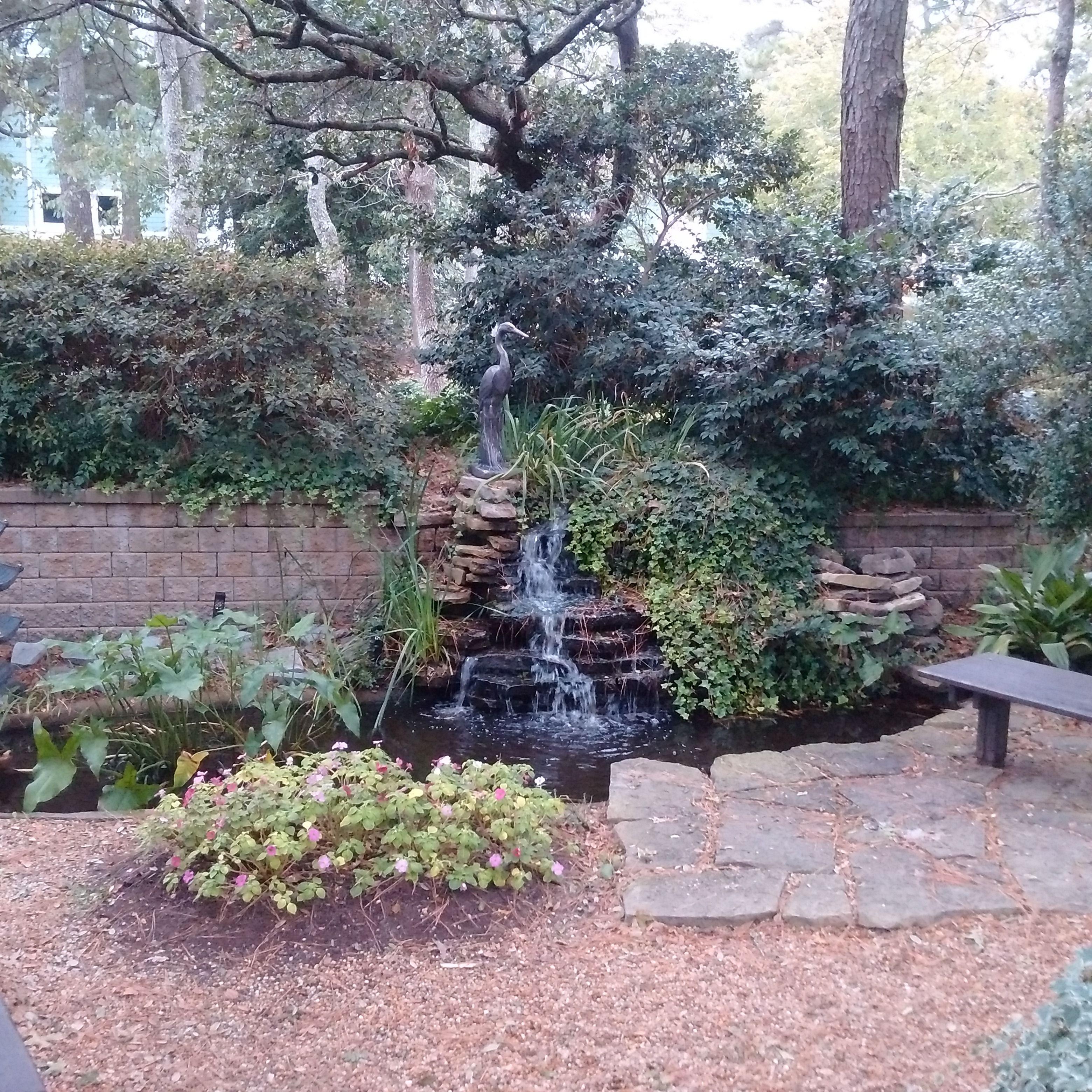 Beautiful Heron Fountain In Meditation Garden At Edgar Cayce S Are