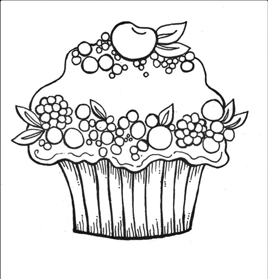 Cupcake coloriage sup coloriage cupcake coloring pages pattern coloring pages et free - Cupcakes dessin ...