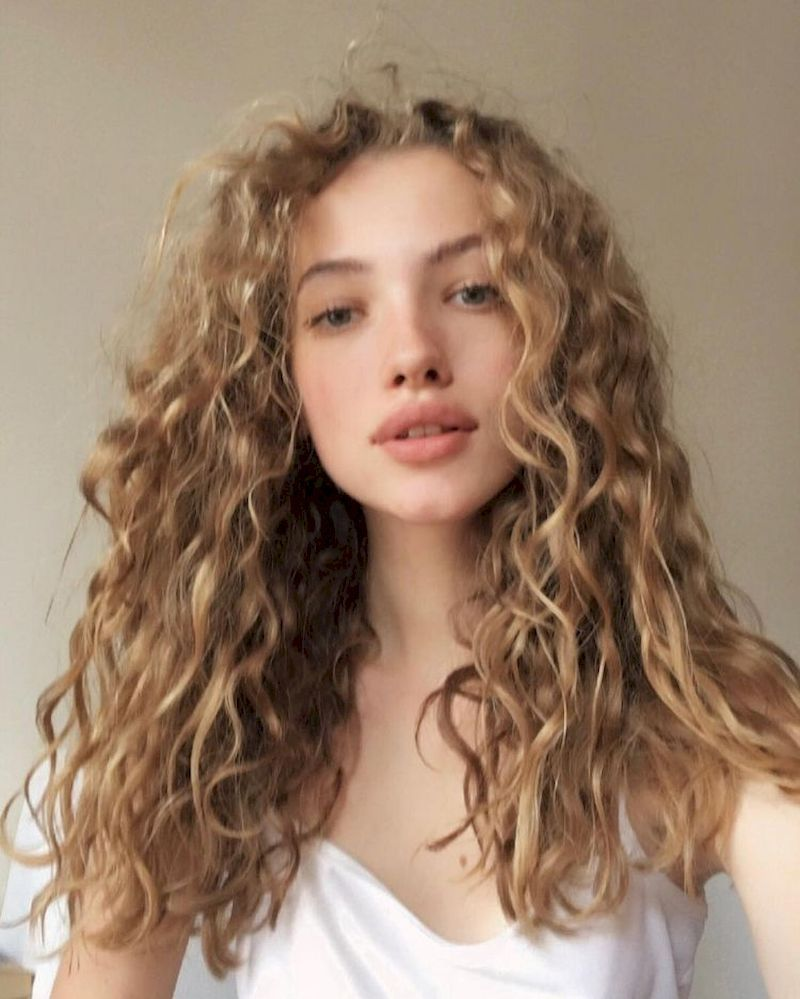 40 Beautiful Frizzy Hair For Blonde Women Curly Hair Styles Curly Hair Styles Naturally Hair Styles