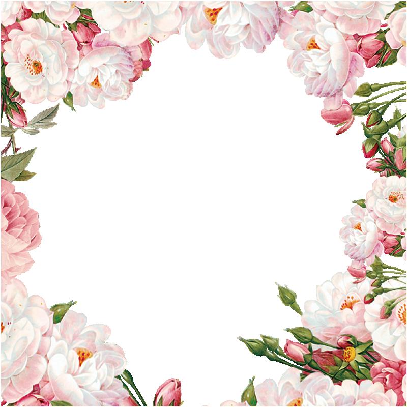 Beautiful Flower Borders Flower Borders Painted Flowers Flowers