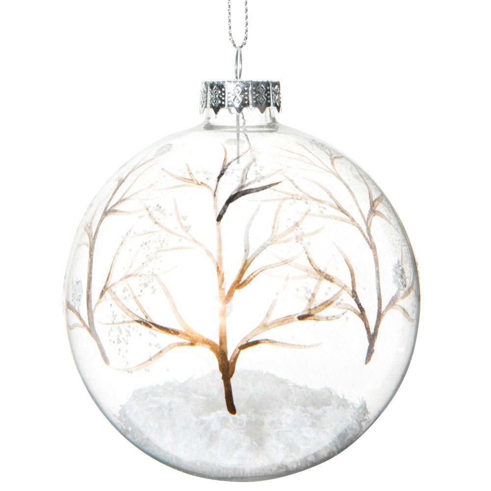 Boule De Noel Transparente A Decorer à 15,54 € |boule de noël transparente en verre 8 cm forÊt enchantÉe